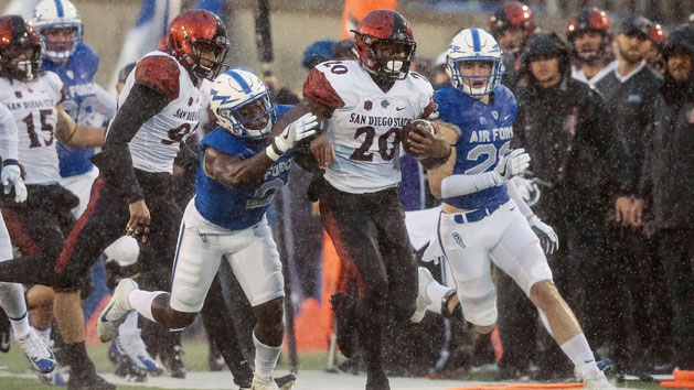 No. 22 San Diego State hangs on to down Air Force