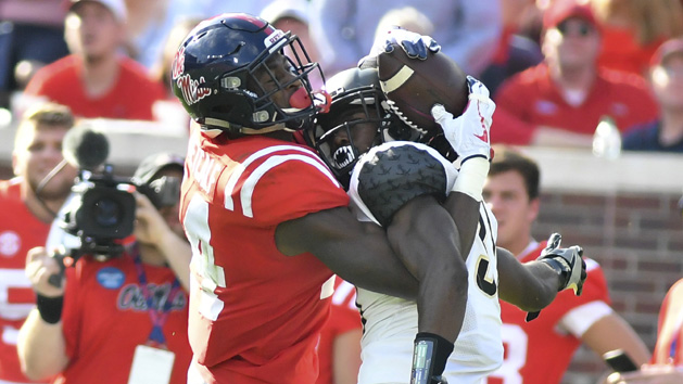 Metcalf's Circus Catch Highlights the Ole Miss Win