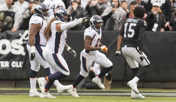 Aqib Talib, Michael Crabtree ejected after punches, shoves turn to sideline brawl