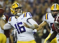 No. 24 LSU sticking with QB Etling vs. Arkansas