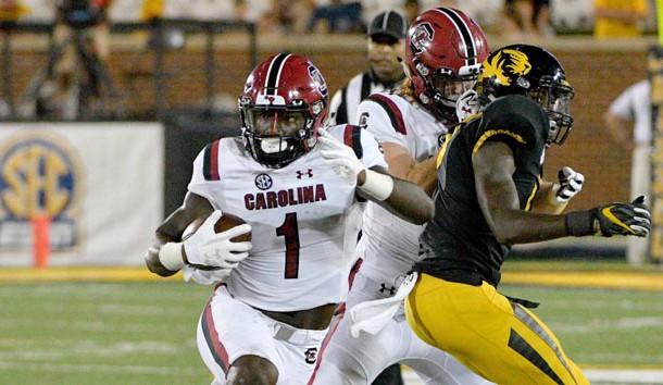 Deebo Samuel will return for his senior season at South Carolina. Photo Credit: Denny Medley-USA TODAY Sports