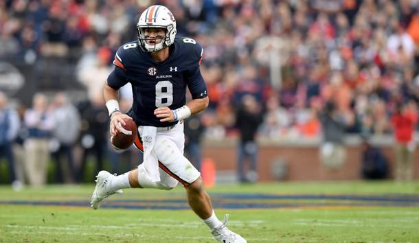 Can Jarrett Stidham lead Auburn to an upset of top-ranked Alabama? Photo Credit: John David Mercer-USA TODAY Sports