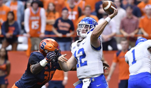 Brent Stockstill has been playing well since his return to the Blue Raiders offense. Photo Credit: Mark Konezny-USA TODAY Sports