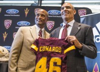 ASU's Edwards fiery at introductory presser