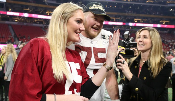 Watch Bradley Bozeman propose to girlfriend after national championship