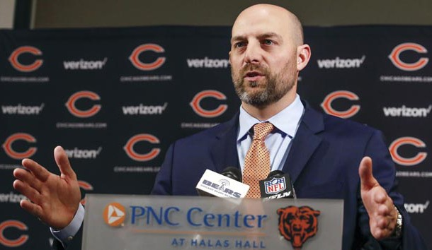 Jan 9, 2018; Lake Forest, IL, USA; Chicago Bears head coach Matt Nagy speaks during the press conference at Halas Hall. Photo Credit: Kamil Krzaczynski-USA TODAY Sports