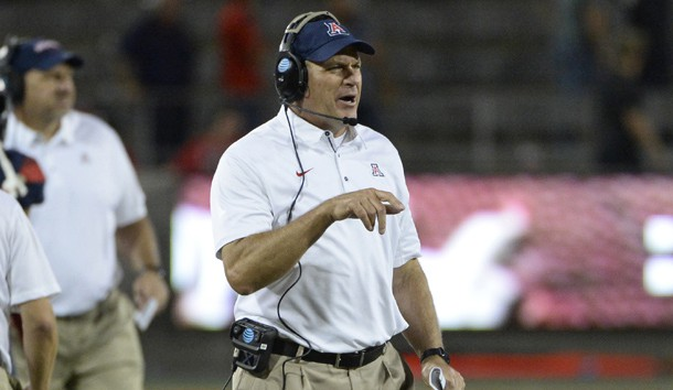 Rich Rodriguez is out as the head coach at Arizona. Photo Credit: Casey Sapio-USA TODAY Sports