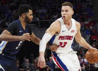 Energized Pistons with Griffin host Blazers