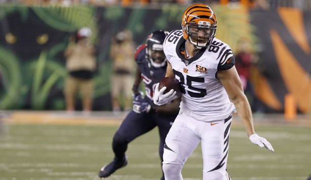 The Bengals could benefit from a healthy Tyler Eifert. Photo Credit: David Kohl-USA TODAY Sports