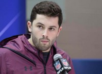 Combine quotes: Mayfield sounds off