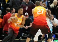 Mitchell, Utah not ready to roll over vs. Rockets