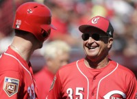 Riggleman to make Reds home debut vs. Braves