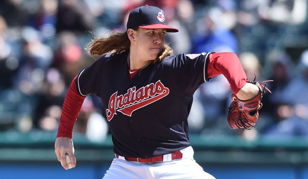 Mike Clevinger will pitch for the Indians tonight. Photo Credit: Ken Blaze-USA TODAY Sports