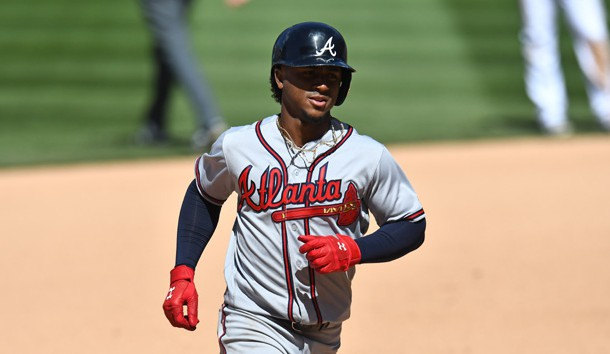 Ozzie Albies homers, doubles in Braves' win