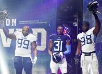 Titans unveil new blue helmet, uniforms