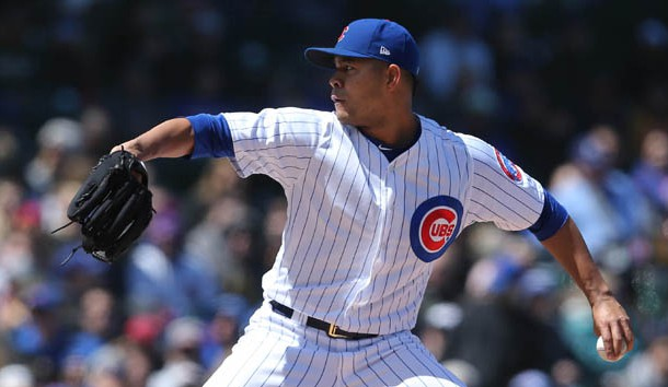 Apr 28, 2018; Chicago, IL, USA; Chicago Cubs starting pitcher Jose Quintana (62) throws a pitch against the Milwaukee Brewers at Wrigley Field. Photo Credit: Dennis Wierzbicki-USA TODAY Sports