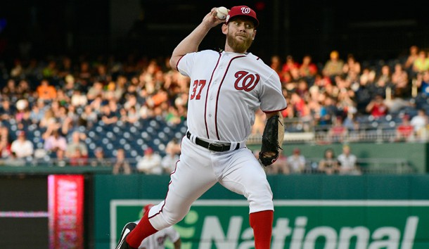 Stephen Strasburg (37) has pitched well against the Marlins in his career.  Photo Credit: Tommy Gilligan-USA TODAY Sports