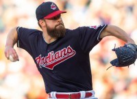 Indians trade P Kluber to Rangers