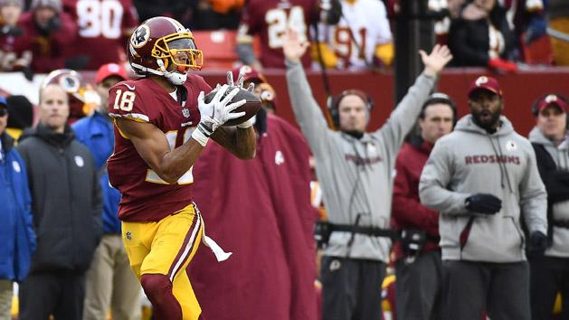 Redskins' WR Doctson prepares for huge leap