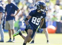 Seahawks' Baldwin: Knee will not be 100 percent