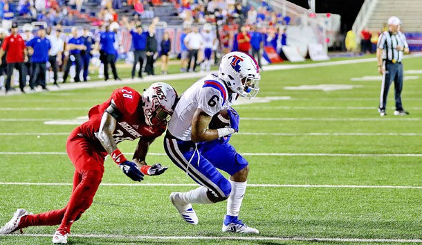 College football played at Ladd-Peebles Stadium, Mobile, Ala., 2018Sept1. TOM MORRIS Photo/LATechSportsPix.com. c.2018. Louisiana Tech University Foundation. ALL RIGHTS RESERVED.