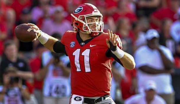 Sep 29, 2018; Athens, GA, USA; Georgia Bulldogs quarterback Jake Fromm (11) passes against the Tennessee Volunteers during the second half at Sanford Stadium. Photo Credit: Dale Zanine-USA TODAY Sports