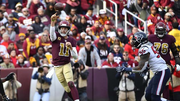 Redskins QB Alex Smith done for season