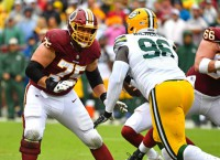 Redskins RG Scherff suffered torn pec vs. Falcons
