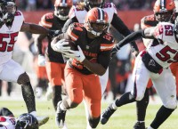 Browns put dent in Falcons' playoff hopes