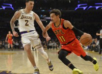 Warriors host Hawks, Young without Curry