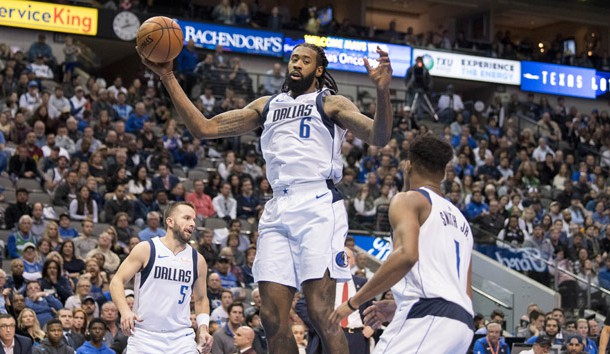 Dec 2, 2018; Dallas, TX, USA; Dallas Mavericks center DeAndre Jordan (6) grabs a rebound against the LA Clippers during the second half at the American Airlines Center. Photo Credit: Jerome Miron-USA TODAY Sports
