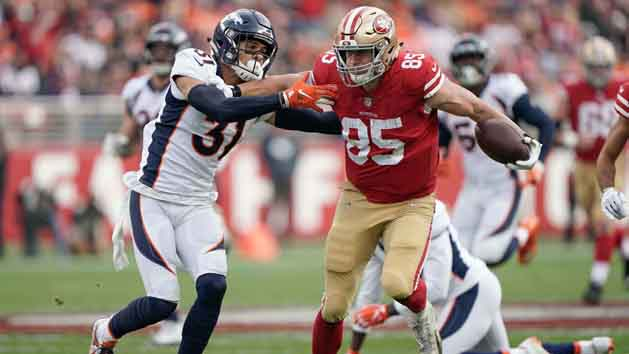 Kittle's monster performance lifts 49ers