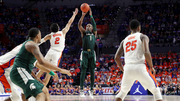 Michigan St. holds off Florida behind Langford, Ahrens