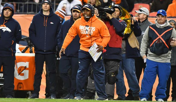 Dec 30, 2018; Denver, CO, USA; Denver Broncos head coach Vance Joseph on the sidelines in the fourth quarter against the Denver Broncos at Broncos Stadium at Mile High. Photo Credit: Ron Chenoy-USA TODAY Sports