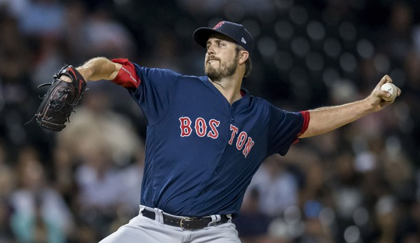 Aug 31, 2018; Chicago, IL, USA; Boston Red Sox relief pitcher Drew Pomeranz (31) pitches during the third inning against the Chicago White Sox at Guaranteed Rate Field. Photo Credit: Patrick Gorski-USA TODAY Sports