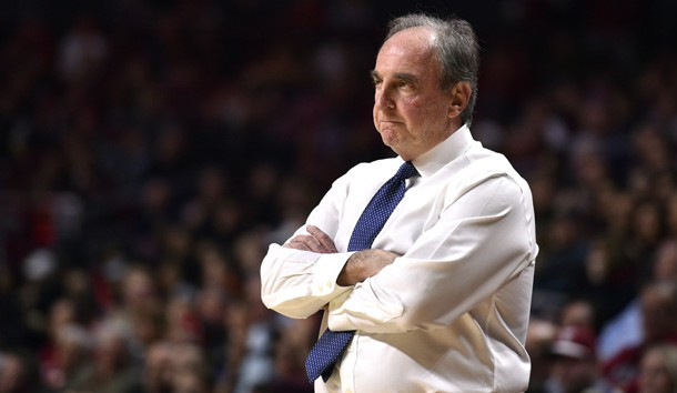 Jan 19, 2019; Philadelphia, PA, USA; Temple Owls head coach Fran Dunphy looks on during the second half against the Pennsylvania Quakers at Liacouras Center. Photo Credit: Derik Hamilton-USA TODAY Sports