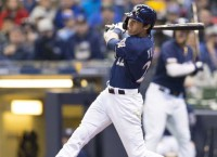 Bashing Brewers open series at San Francisco