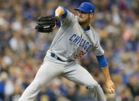 Hamels hopes to pitch Cubs to sweep of Marlins