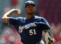 Brewers P Peralta tries to slow Trout, Angels