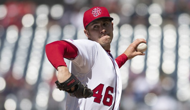 Mar 31, 2019; Washington, DC, USA;  Washington Nationals starting pitcher Patrick Corbin (46) delivers a second inning pitch against the New York Mets at Nationals Park. Photo Credit: Tommy Gilligan-USA TODAY Sports