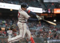 Power-infused Braves look for series win over Giants