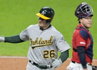 A's aim to seal series win over Indians