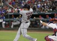 Indians' Bauers thriving on road, faces Rangers again