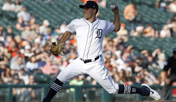 Jun 7, 2019; Detroit, MI, USA; Detroit Tigers starting pitcher Matthew Boyd (48) pitches against the Minnesota Twins during the first inning at Comerica Park. Photo Credit: Raj Mehta-USA TODAY Sports