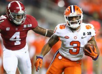 Clemson WR Rodgers ahead of schedule in ACL rehab