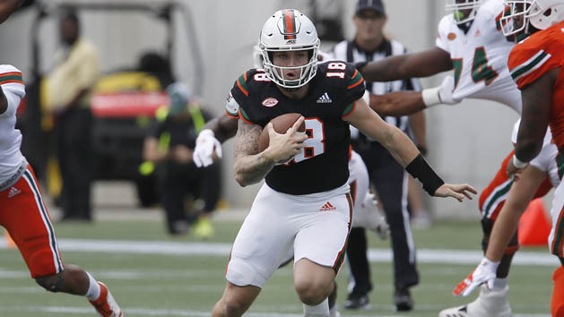 Reports: Miami QB Martell working at receiver