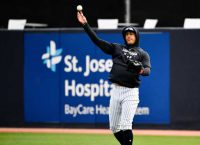 Yankees' Stanton (calf) might miss start of season