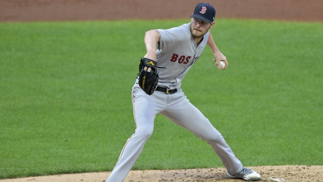 Red Sox LHP Sale diagnosed with elbow flexor strain