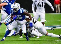 Colts RB Mack injures leg, ruled out vs. Jaguars