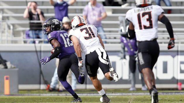 Davis' Catch and Run helps TCU Upset Oklahoma St.